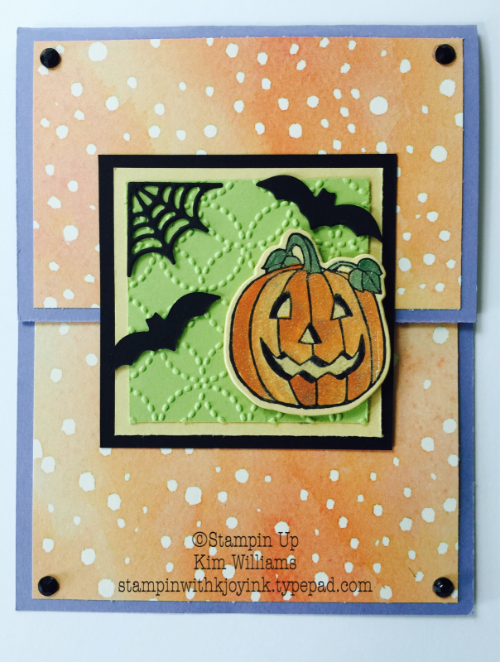 How To Card Fold with Seasonal Chums - Stampin With Kjoyink