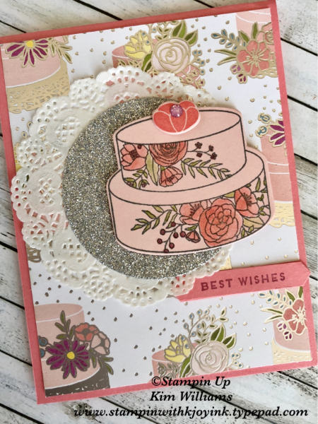 Stampin Up Wedding Card With The Cake Soiree Stamp Set